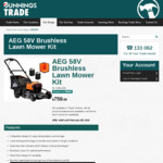 AEG Cordless 58V Mower, 2x4ah Batteries, Charger & Line Trimmer Bunnings Powerpass Price $760 (Membership Required) @ Bunnings