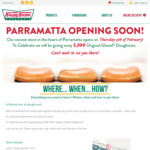 [NSW] 5,000 Free Original Glazed Doughnuts, 15/2 @ Krispy Kreme (Parramatta)