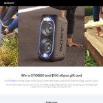 Win a Sony GTK-XB60 Wireless Speaker Worth $499 & $100 EFTPOS Gift Card or 1 of 5 $100 EFTPOS Gift Cards from Sony