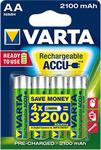 VARTA AA 2100mAh, AAA 800mAH Rechargeable Batteries 4pk $8.97 @ EB Games C&C