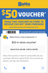 [QLD] $50 off $100+ Spend at Betta Home Living Underwood