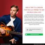 Win a 'George Ezra Live in London' Experience for 2 Worth $6,000 from Sony Music
