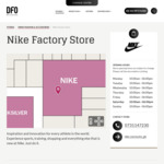 40% off Lowest Ticketed Price Mens and Women's Nike Shoes at DFO Brisbane Airport