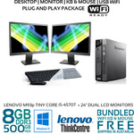 "[Refurb] Lenovo ThinkCentre M93p Core i5-4570T 8GB 500G 20/22/24"" LCD Win10 KB Mouse Wi-Fi from $269.99 (10% off) @ Bufferstock"