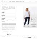 Win 1 of 5 $250 Gift Cards from Verge