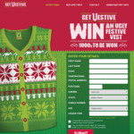 Win a Share of 2,001 V Festive Vests Worth $50 from Frucor Suntory [Purchase V-Energy]