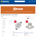 [OzBargain's 12th Birthday] Extra 10% off Site-Wide & 30% off Selected Sale Items @ JD Lighting