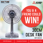 Win 1 of 2 Mitsubishi Desk Fans Worth $89 from Stan Cash