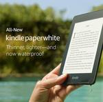 Kindle Paperwhite – Waterproof 32GB $199, Free 4G LTE + Wi-Fi 32GB $299 Delivered @ Amazon AU