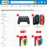 Nintendo Switch Joy-Cons Neon Yellow/Neon Red+Blue $94, Grey $94.99, Switch Pro Controller $79.99 + Shipping @ Catch