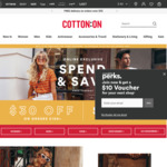 Spend $100 Get $30 off, Spend $80 Get $20 off @ Cotton On