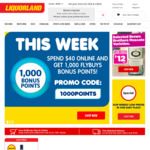 Spend $40 Online & GET 1000 Flybuys Points (11-17 Feb) @ Liquourland (Online)
