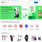 10% off Sitewide @ eBay ($120 Min Spend, $100 Max Discount)