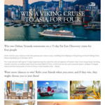 Win a Far East Discovery Cruise (Beijing-Hong Kong) for 4 Worth $38,380 from Viking River Cruises