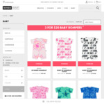 Baby Rompers 3 for $20 + $5.95 Delivery (Free for $49 Spend) @ Bonds Outlet