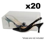 20x Large Size Clear Plastic Shoe Organiser Storage Box $26.58 Plus Shipping