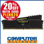 32GB Corsair (2x16) DDR4 3200MHz Vengeance LPX Ram Kit $263.20 + $15 Shipping (Free with eBay Plus) @ Computer Alliance eBay
