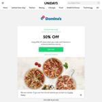 [Students] 50% Off Pizza @ Dominos via UNiDAYS