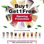 [NSW] Buy 1, Get 1 Free (Top Ten Only) @ Gong Cha Tea, Eastwood