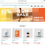 MyProtein - 45% off Sitewide