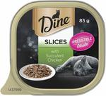 Dine Slices with Succulent Chicken Cat Food 85g, 28 Pack $21 ($18.90 with S&S) + Delivery ($0 with Prime/ $39 Spend) @ Amazon AU