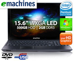 15.6in eMachines LED Notebook $314 Delivered (and after Cashback) + 2 Yrs Warranty