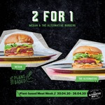 [VIC, WA, NSW] Buy 1 Plant Based Burger (from $15.50), Get 1 Free Plant Based Burger @ Huxtaburger