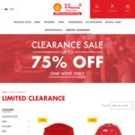 Up to 75% off Sale - Shell V-Power Racing Team 2019 Merchandise (Caps $12, Tees $20, Team Polos $25)