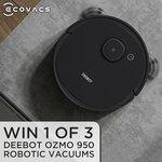 Win 1 of 3 Ecovacs DEEBOT OZMO 950 Robotic Vacuums from JB Hi-Fi