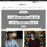 2 Career Shirts for $100 / 2 Luxe Shirts for $129  Free Delivery @ Brooksfield Australia