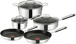 TEFAL E763S5 Stainless Steel Mediterranean 5 Piece Cookware Set, Silver $155.72 (Was $249) @ The Good Guys / Amazon (OOS)
