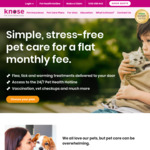 Knose Pet Care Plan $10 for the First Month (New Customers)  @ Knose