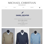 [VIC] Daniel Hechter Mens 100% Pure Cotton Knitwear $39 (Was $99) in-Store Only @ Michael Christian Menswear