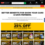 25% off Storewide for Auto Club Members at Repco (Conditions Apply)