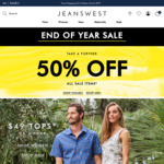 Further 50% off All Sale Items @ Jeanswest