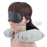 Meritline: Luxury Travel Comfort Pack: Air Pillow with Eye Shade & Earplugs $0.99 Free Shipping