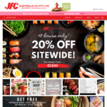 [VIC] 20% off Sitewide Including Already Reduced Items (Minimum $50 Order) + Delivery ($0 with $150 Spend) @ JFC Online