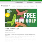 [QLD] Free 6-Hole Mini Golf for Kids from 6-18 April @ Indooroopilly Shopping Centre
