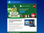 2 Months Free Subscription to PS3 Premium Music Service