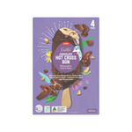 Coles Hot Cross Bun Flavoured Ice Cream Sticks 4 Pack or 473ml Tub $1 Each @ Coles
