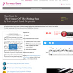 [Free] Piano Sheet Music PDF - The House of the Rising Sun @ Tunescribers