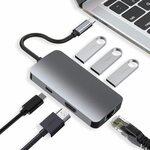 6-in-1 USB C Hub 4K@30Hz HDMI, 3 USB 3.0, Gigabit Ethernet, PD 87W $26.25 + Delivery @ HARIBOL Amazon AU