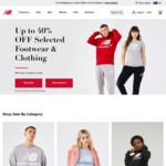 Up to 40% off selected footwear and clothing + 8% upsized Cashrewards cashback + $10 Delivery ($0 with $100 Order) - New Balance