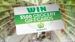 Win 1 of 2 $500 Woolworths Grocery Gift Cards from Nine Network