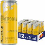 Red Bull Tropical Energy Drink, Case of 12x 250ml $18.18 + Delivery ($0 with Prime/ $39 Spend) @ Amazon AU