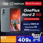 OnePlus Nord 2 5G DN2103 8GB 128GB US$462.76 (~A$627), 12GB 256GB US$553.27 (~A$750) (UK / EU Ver.) Shipped @ OnePlus AliExpress