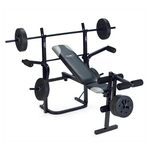Folding Weight Bench with Weight Set $98 + Shipping Big W Online
