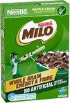 NESTLÉ MILO Cereal, Whole Grain, Energy & Fibre, 350g $2.65 ($2.39 S&S) + Delivery ($0 with Prime/ $39 Spend) @ Amazon AU