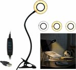 Clip on Reading Light Desk Lamp $22.80 + Delivery ($0 with Prime/ $39 Spend) @ Ottertooth Direct via Amazon AU