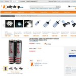 UltraFire BRC 18650 3.7V 3600mAh Protected Rechargeable Battery 2Pcs $6.95 Free Shipping 20% OFF